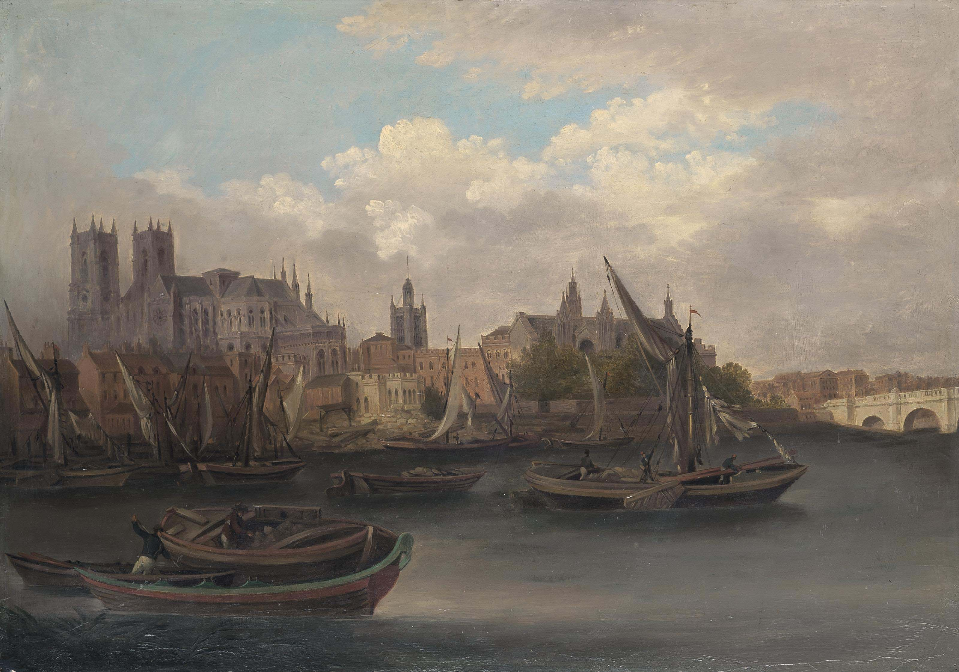 View of the Thames at Westminster