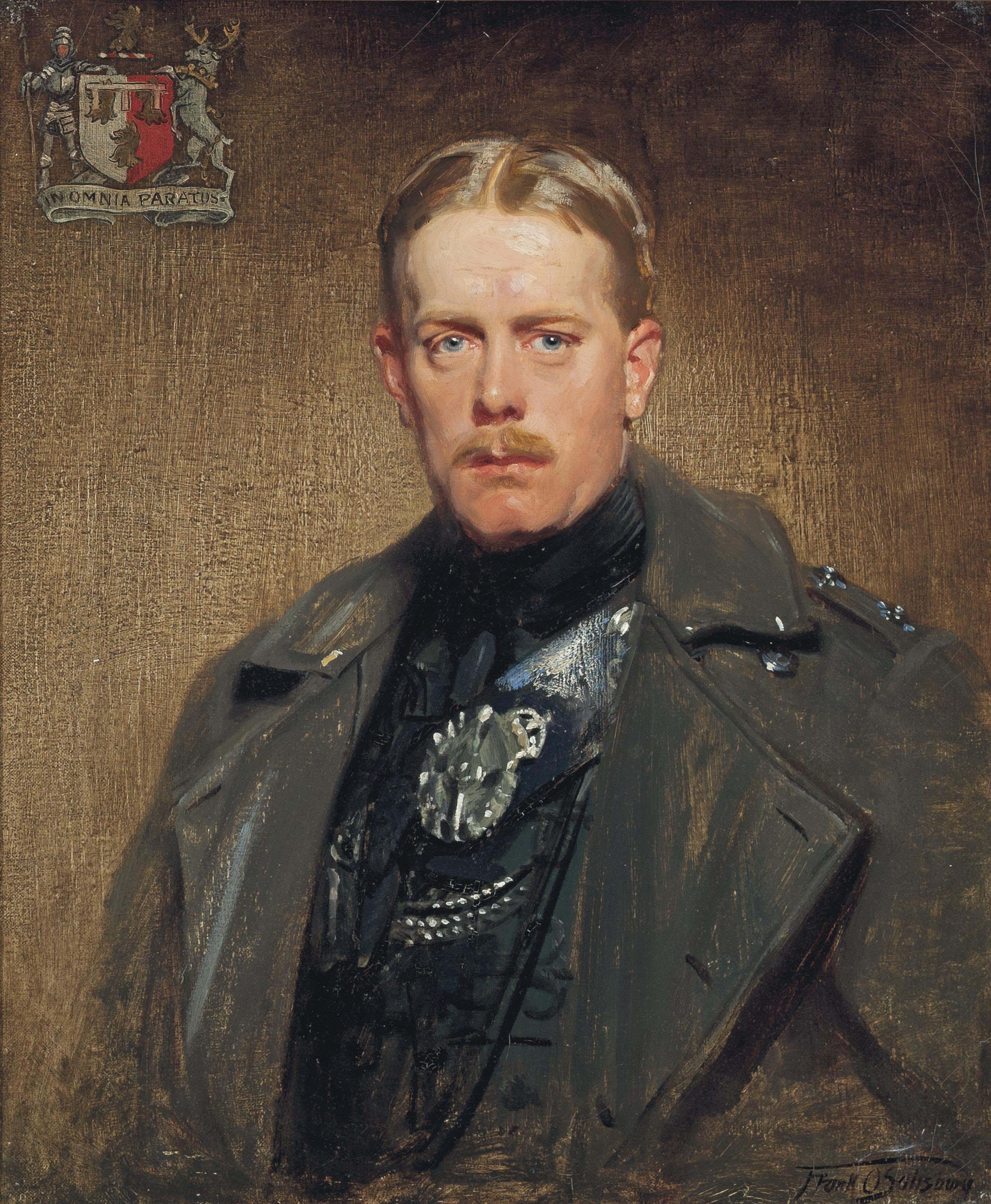 Portrait of Henry Cornelius O'Callaghan, 5th Baron Dunalley, three-quarter-length, in a grey coat