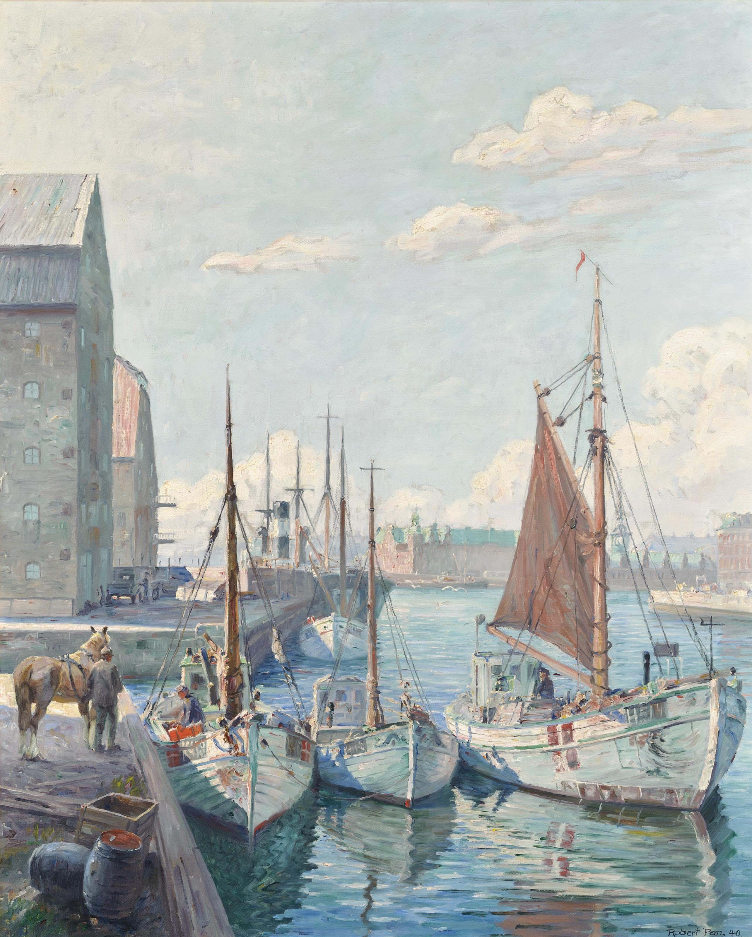Fishing vessels at Copenhagen harbour