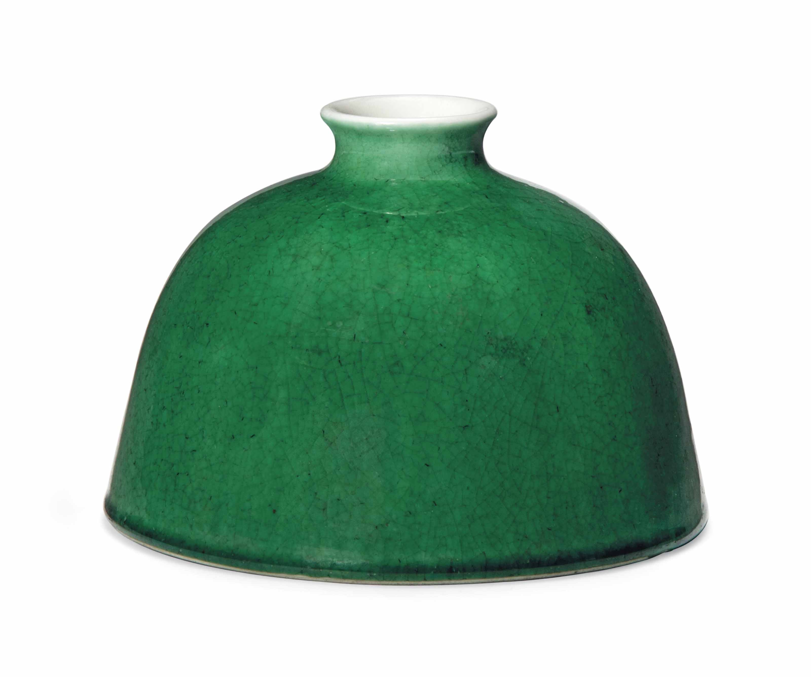 A CHINESE GREEN-GLAZED BEEHIVE