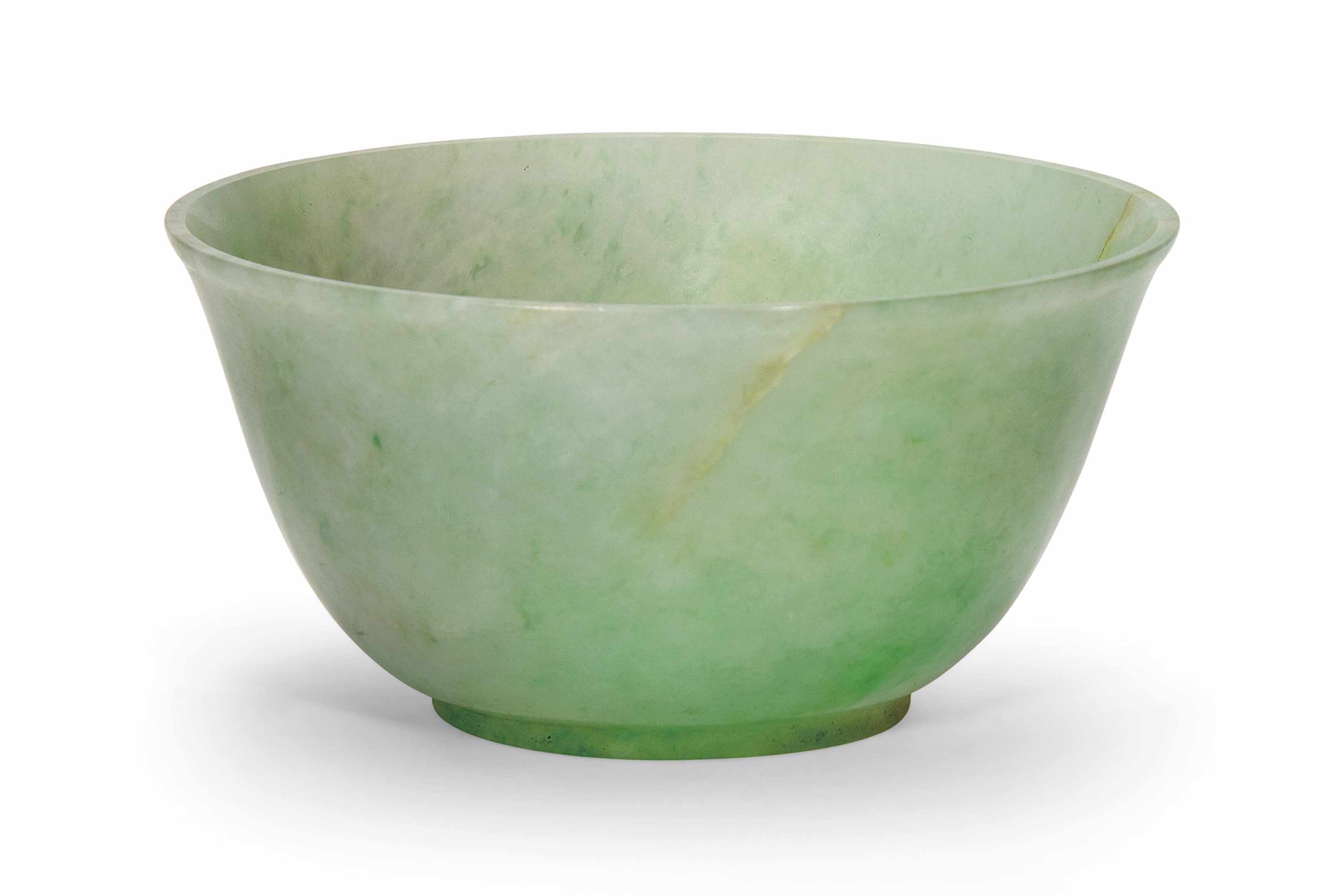 A CHINESE JADEITE BOWL