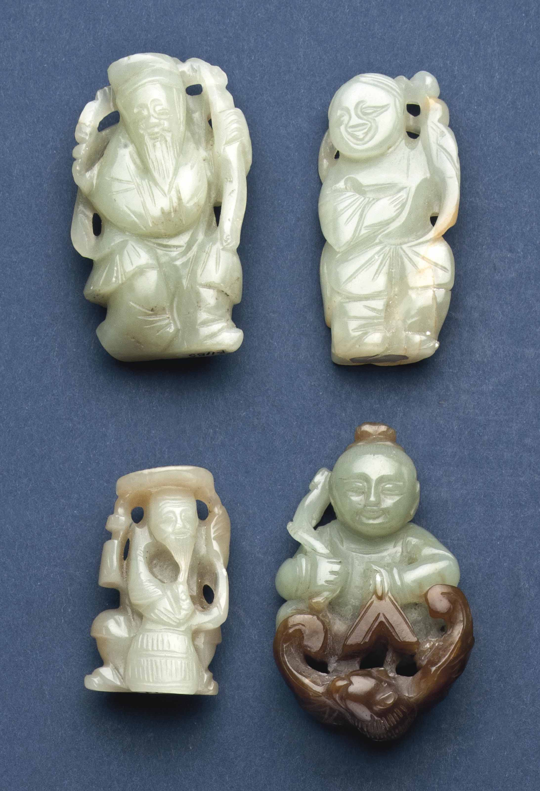 FOUR CHINESE CELADON AND RUSSE