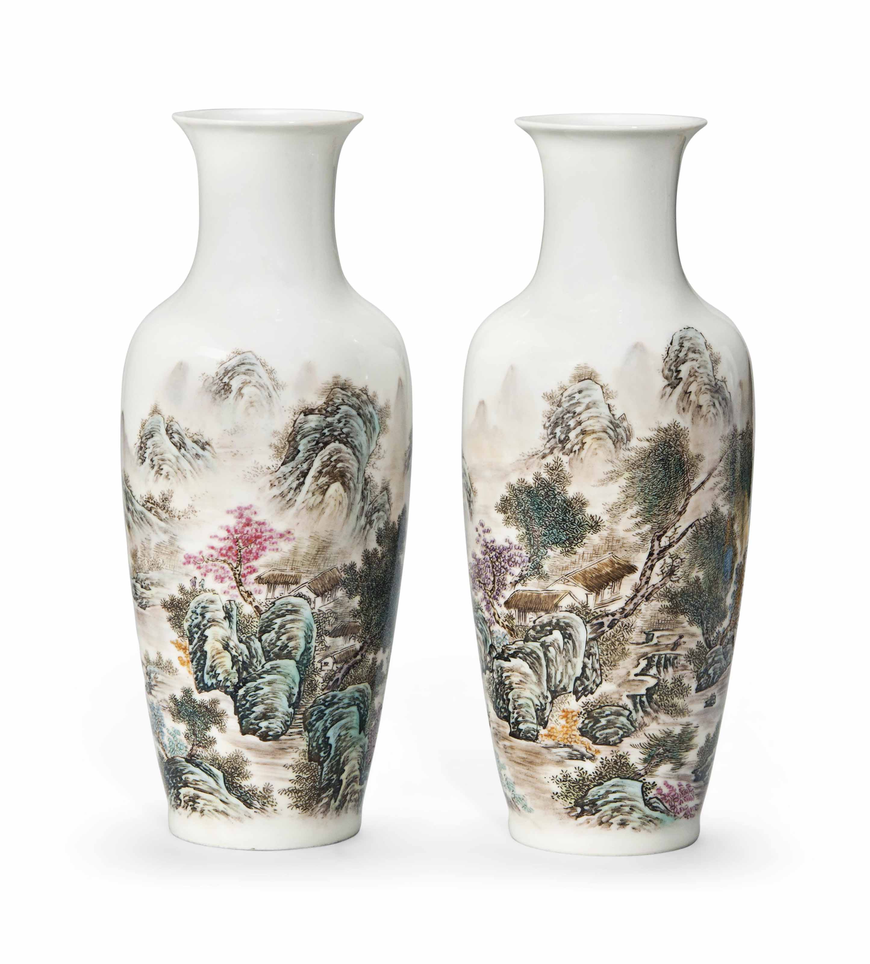 A PAIR OF CHINESE 'LANDSCAPE'