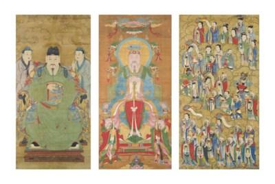 THREE CHINESE PAINTINGS OF IMM
