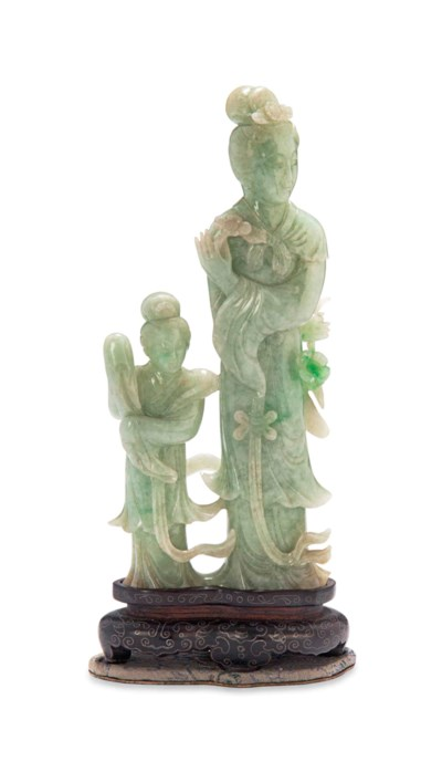 A CHINESE JADEITE CARVING OF A