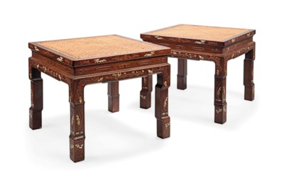 A PAIR OF CHINESE IVORY-INLAID