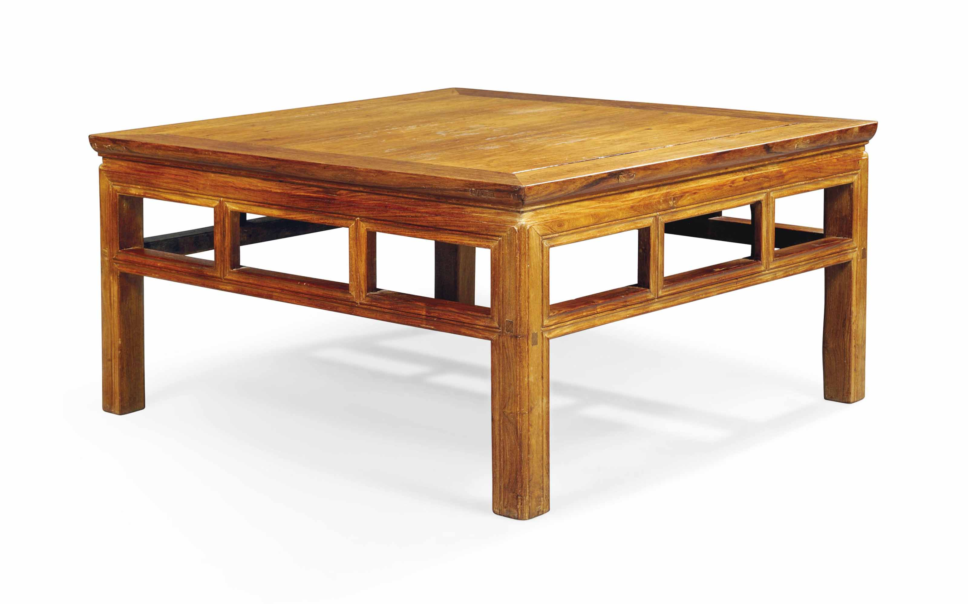 A CHINESE ROSEWOOD LOW SQUARE