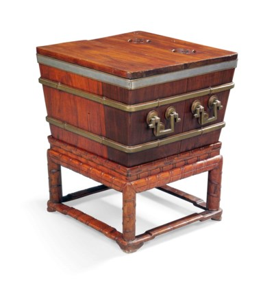 A CHINESE ROSEWOOD WINE COOLER