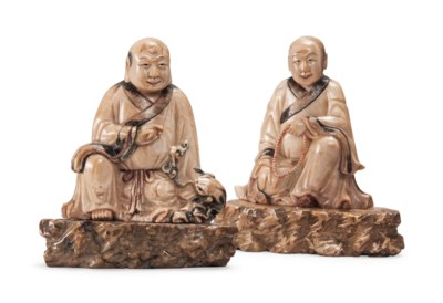 TWO CHINESE SOAPSTONE MODELS O