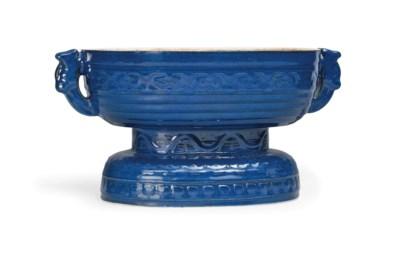 A BLUE-GLAZED ALTAR VESSEL, GU