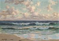 Waves breaking, dawn