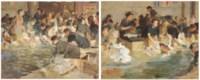 Washerwomen at Antibes; and Similar