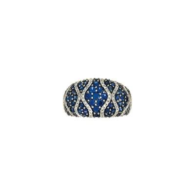 A sapphire and diamond dress r