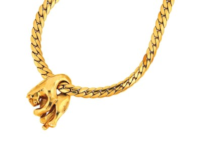An 18ct gold 'Panther' necklac