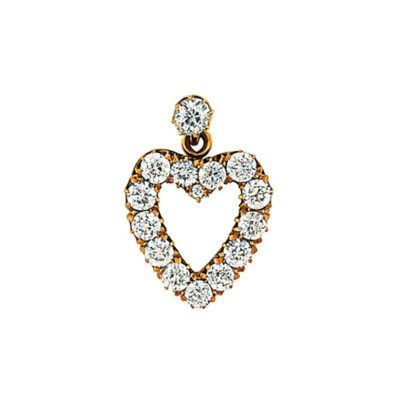 A late 19th century diamond pe
