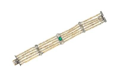 A Belle Epoque emerald, diamon