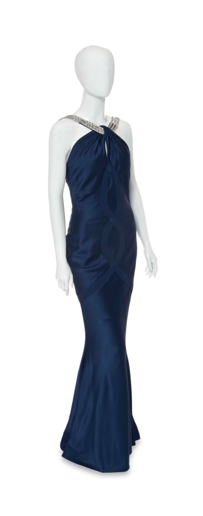 A CHRISTIAN DIOR EVENING GOWN