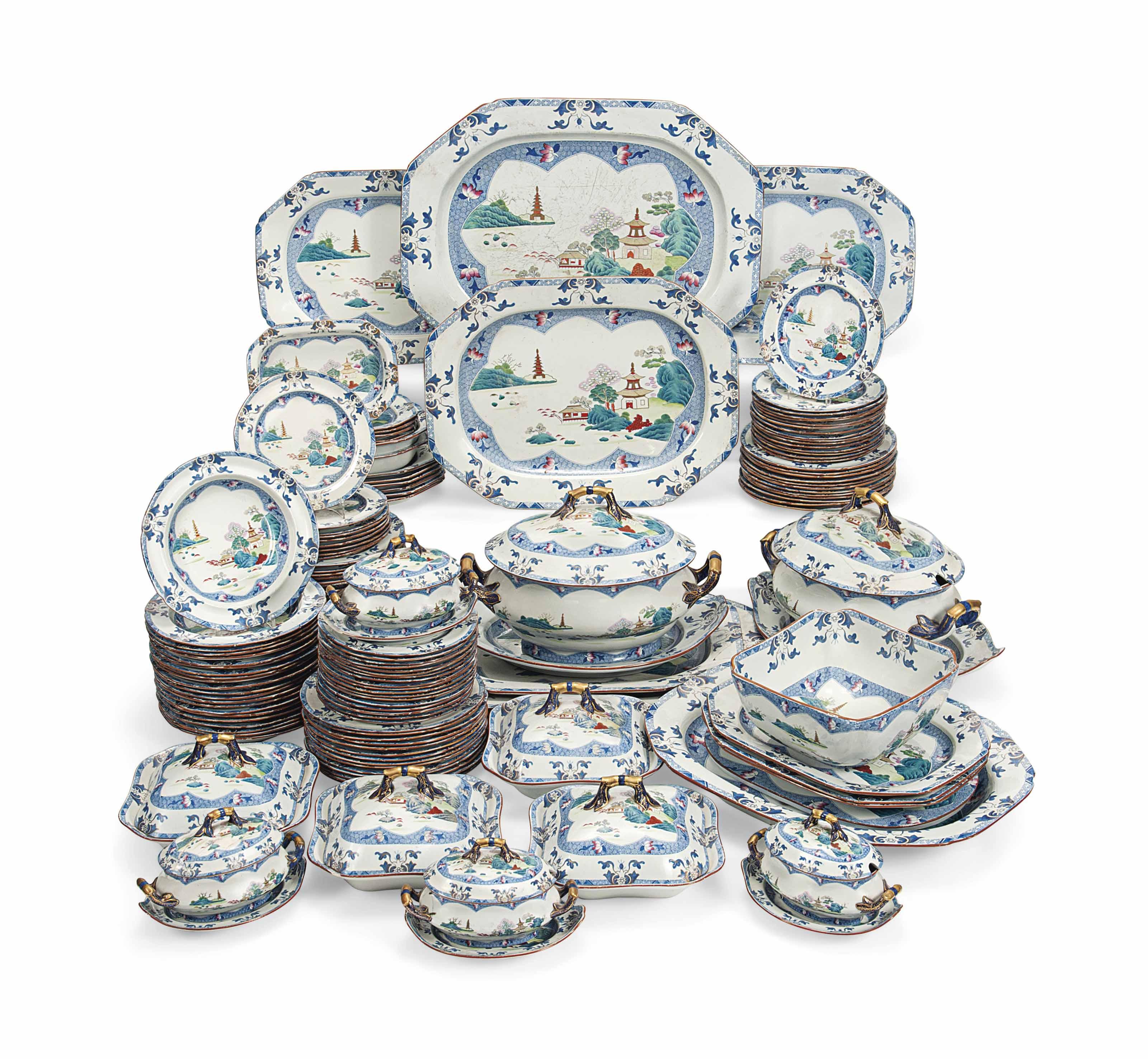 AN EXTENSIVE SPODE STONE-CHINA  sc 1 st  Christieu0027s & AN EXTENSIVE SPODE STONE-CHINA DINNER-SERVICE | CIRCA 1820-30 BLUE ...