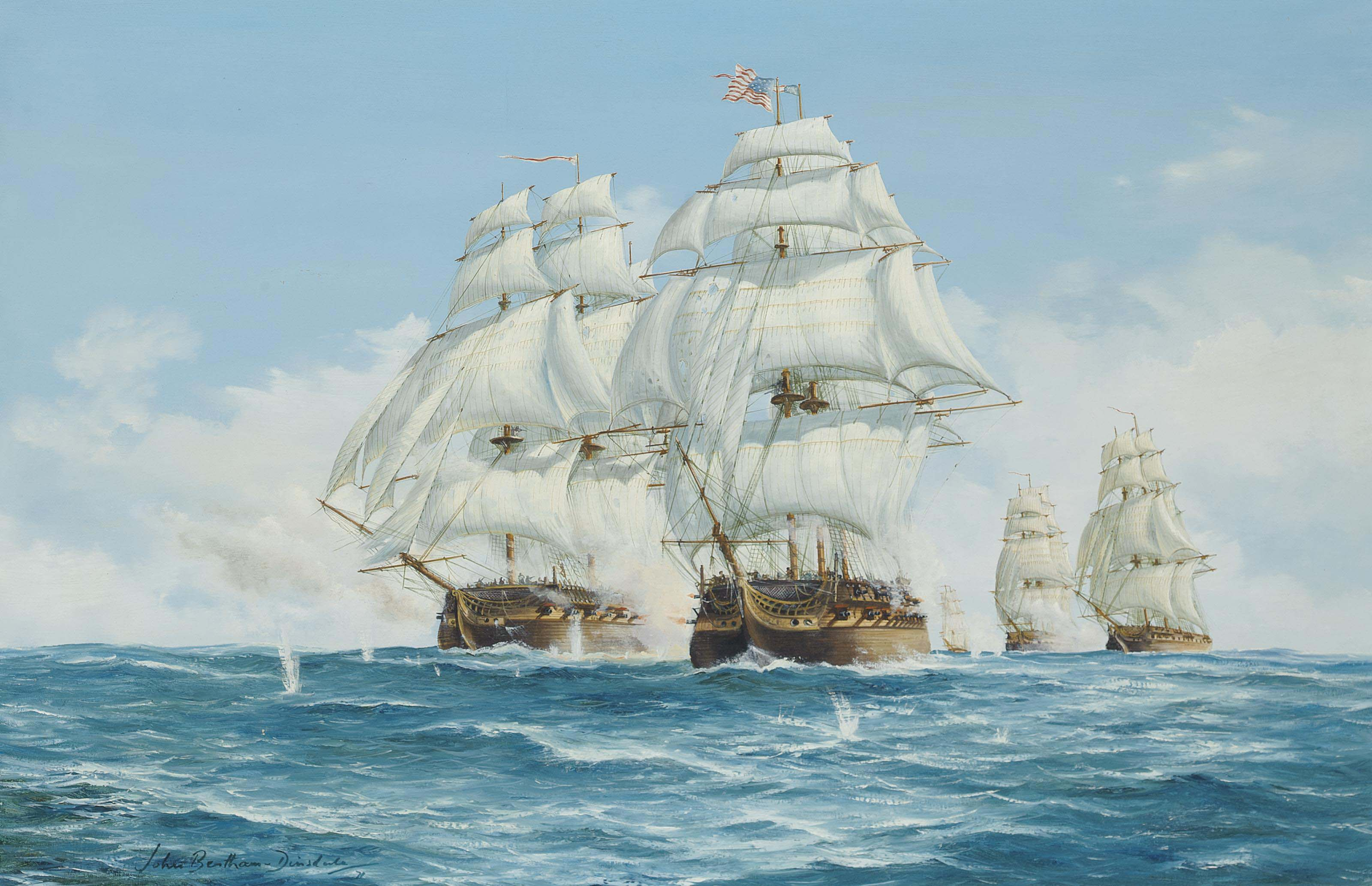 The capture of U.S.S. President off New York, 14th January 1815