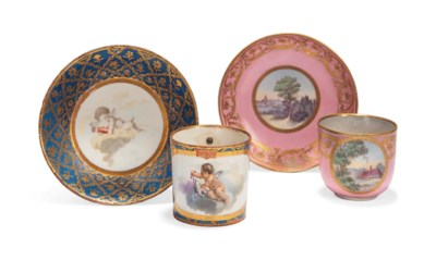 TWO RUSSIAN PORCELAIN CABINET