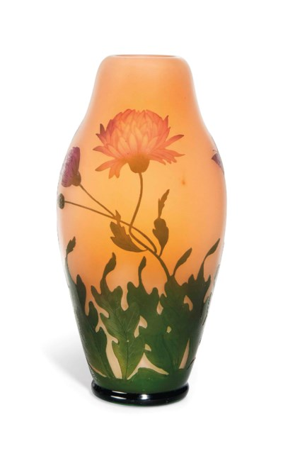 A GEORGES RASPILLER CAMEO GLAS