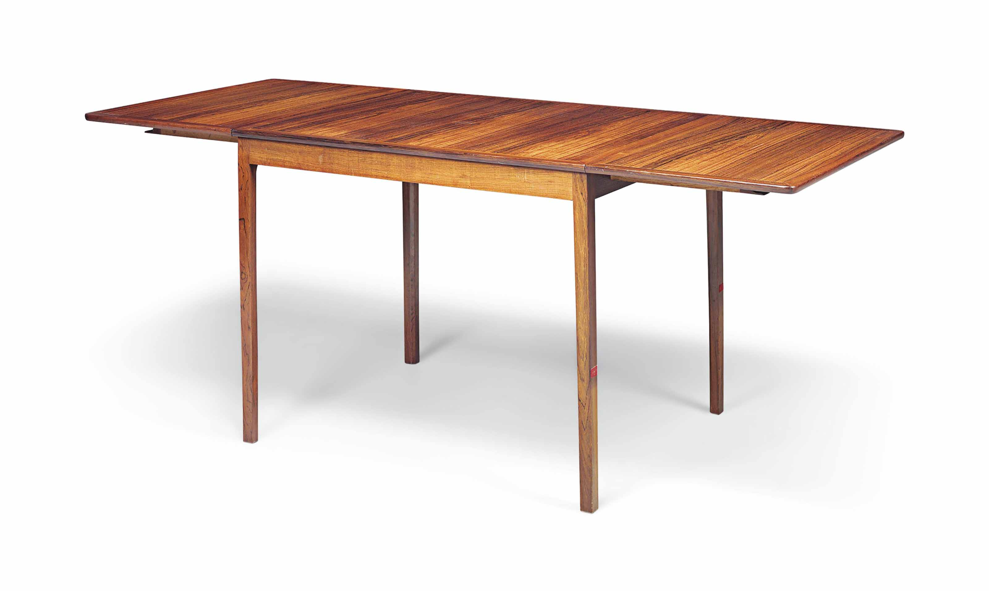 AN OLE WANSCHER (1903-1985) BRAZILIAN ROSEWOOD EXTENDING DINING TABLE