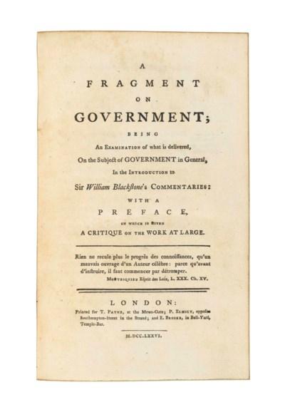 [BENTHAM, Jeremy (1748-1832).]