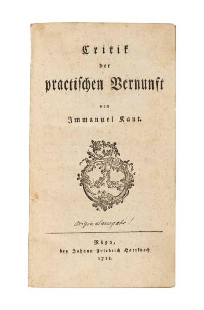 KANT, Immanuel (1724-1804).  C