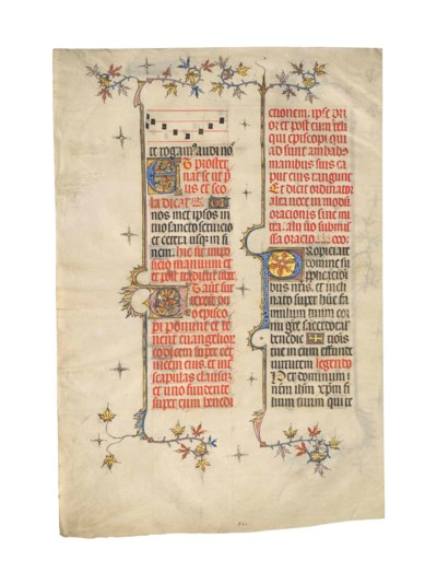 TWO LEAVES FROM A NOTED MISSAL