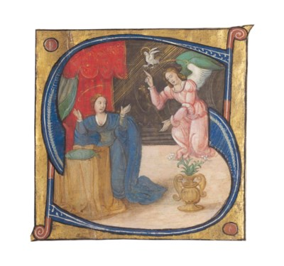 ANNUNCIATION IN AN INITIAL 'S'