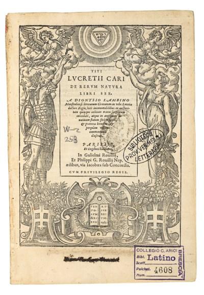 LUCRETIUS Carus, Titus (c.85 -