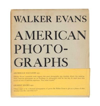 EVANS, Walker (1903-1975). Ame