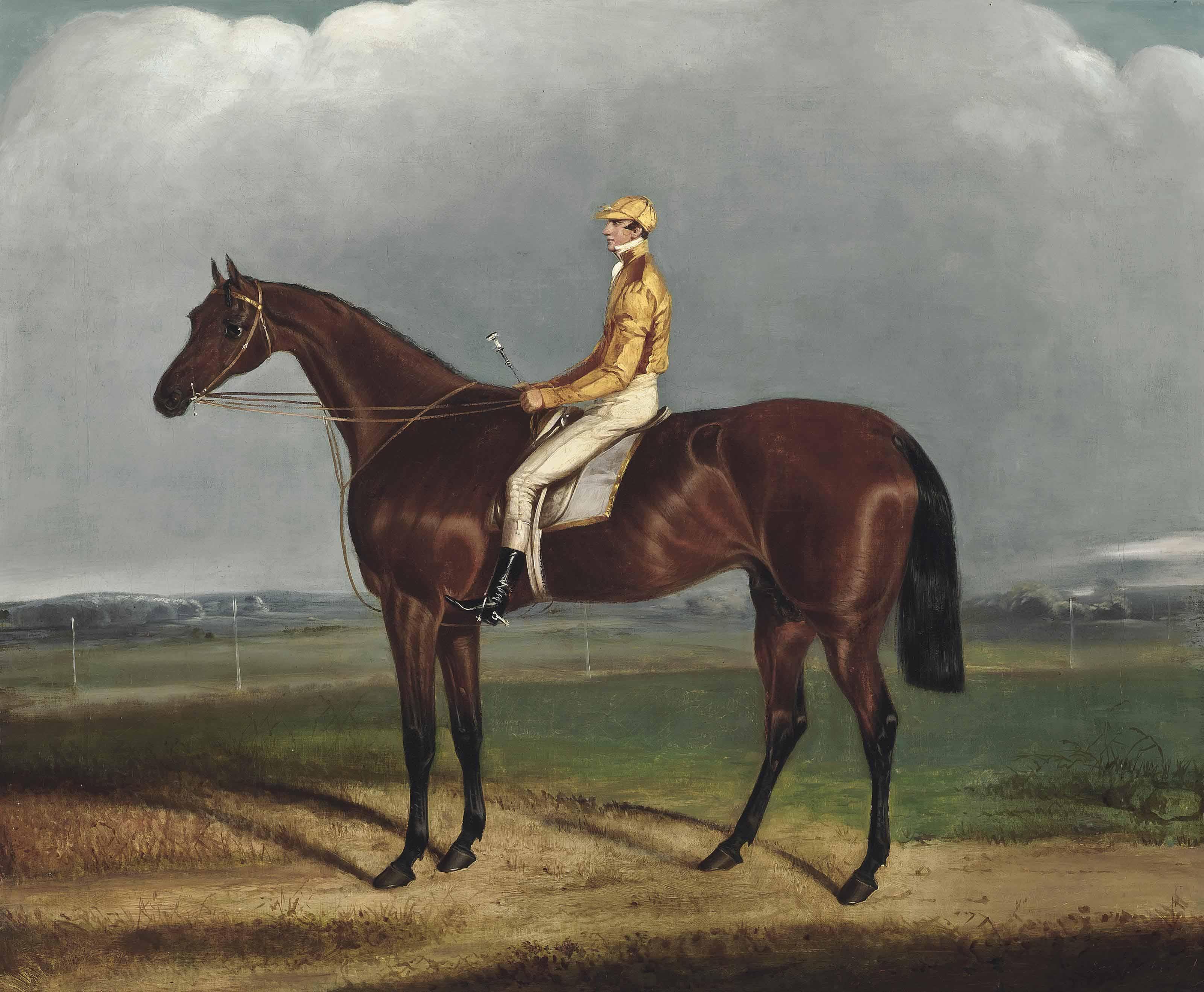 'Galaor', with jockey up