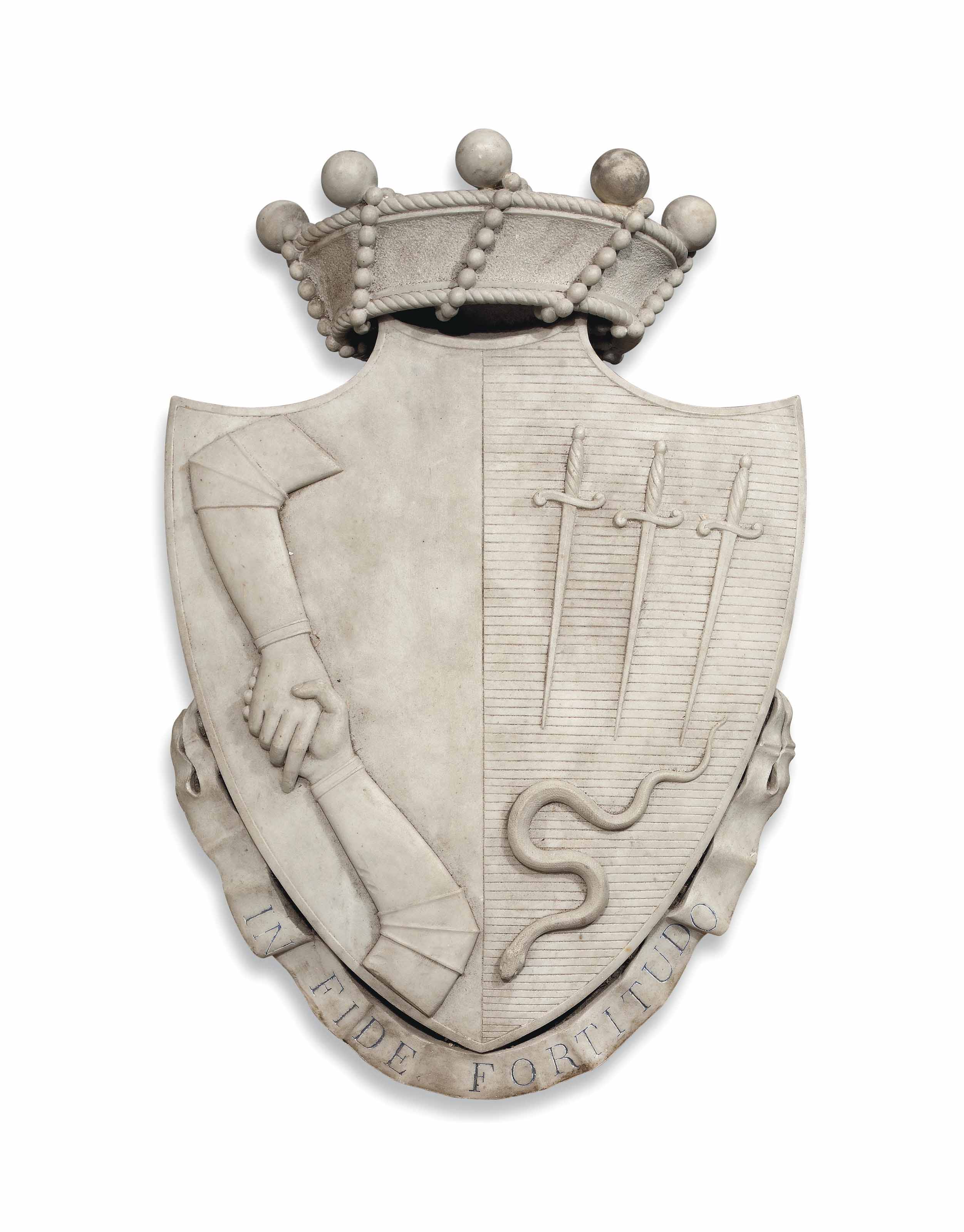 A MARBLE COAT-OF-ARMS