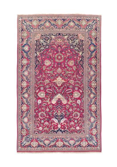 A very fine part silk Kashan p