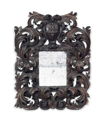 AN ITALIAN PAINTED MIRROR