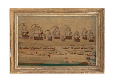 A VICTORIAN SHIP'S WOOLWORK PI