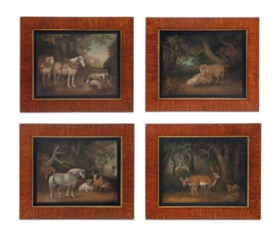 A SET OF FOUR REGENCY SAND PIC