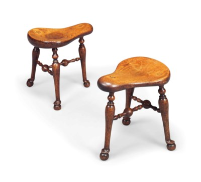 A PAIR OF GEORGE IV OAK 'COCK-