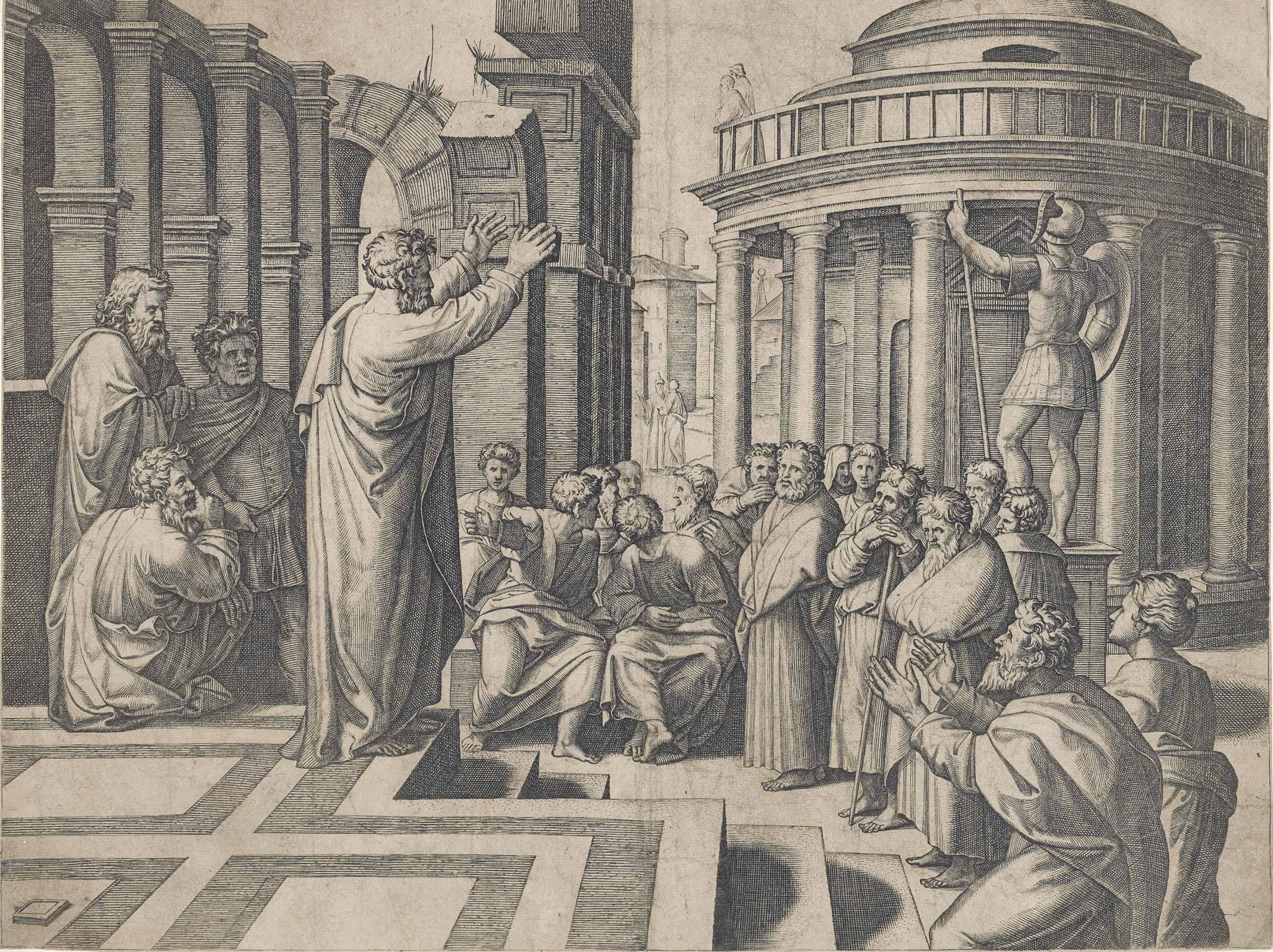 Saint Paul preaching in Athens (Bartsch 44)