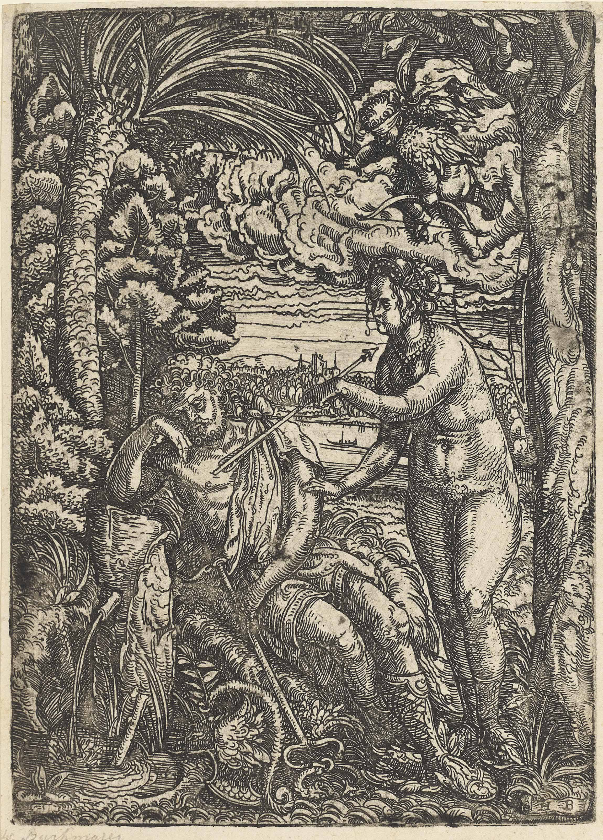 Venus and Mercury (Bartsch 1; Hollstein 834)