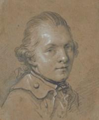 Portrait of a young man, traditionally identified as the miniaturist Heinrich Friedrich Füger (1751-1818)