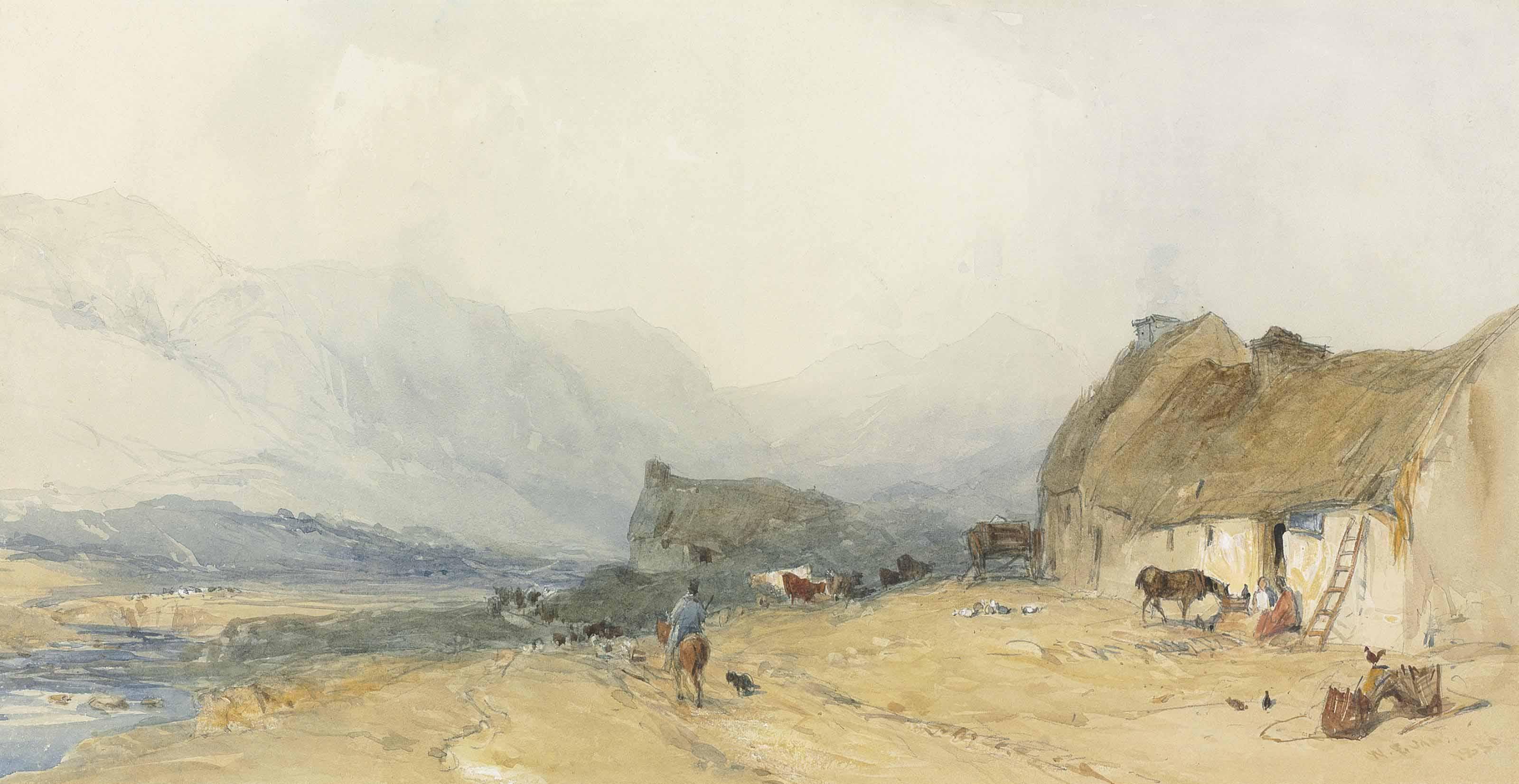 A Scottish Croft in an extensive landscape