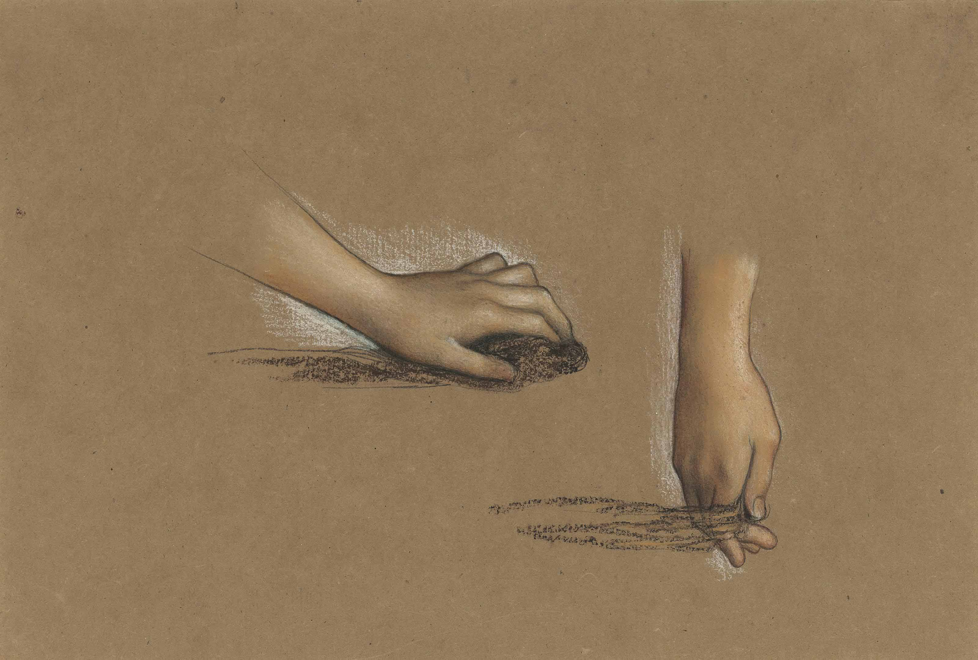 Two studies of hands