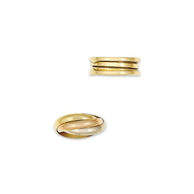 An 18ct gold 'Trinity' ring, b