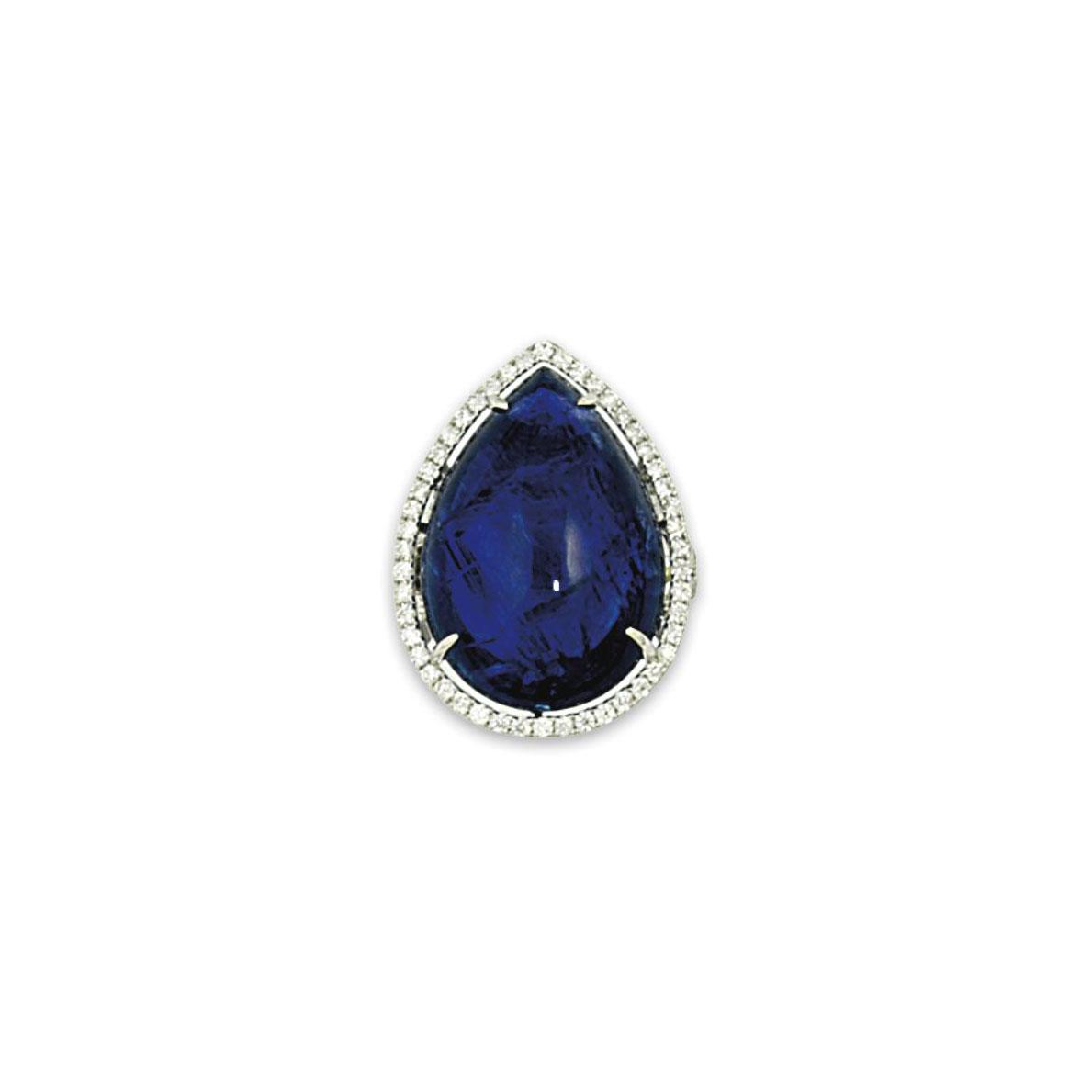 A tanzanite and diamond dress