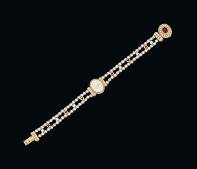 A lady's 18ct gold, diamond, r