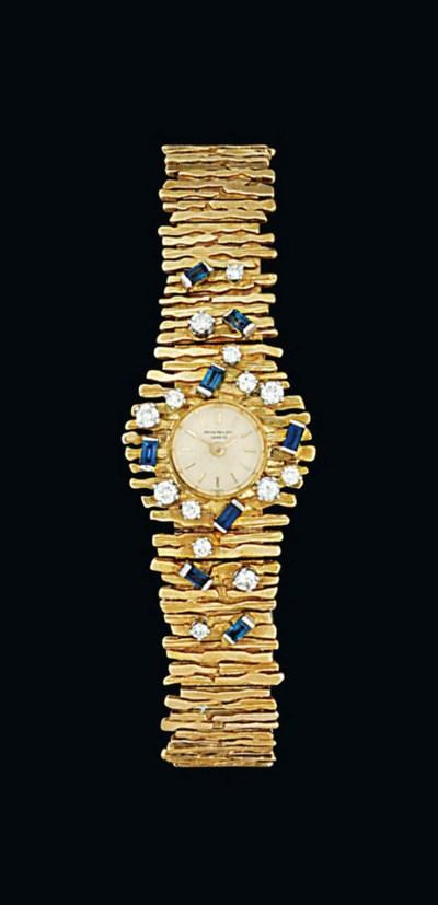 A sapphire and diamond-set wri
