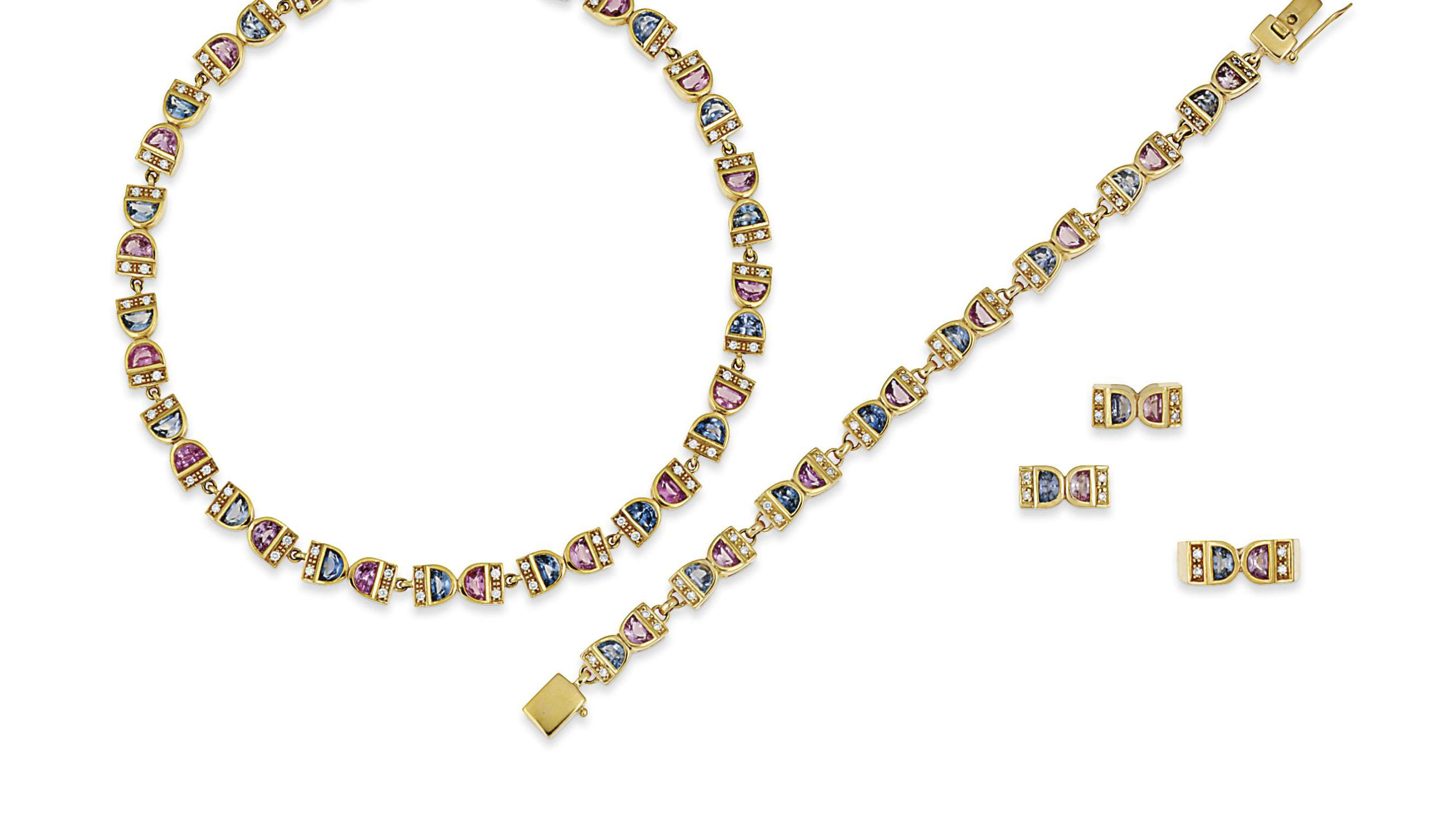 A sapphire and diamond jewelle