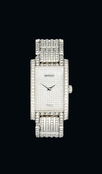 A diamond-set 18ct white gold